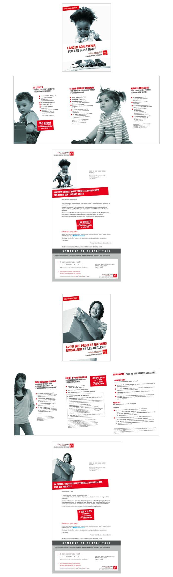 mailings produits jeunes par une banque