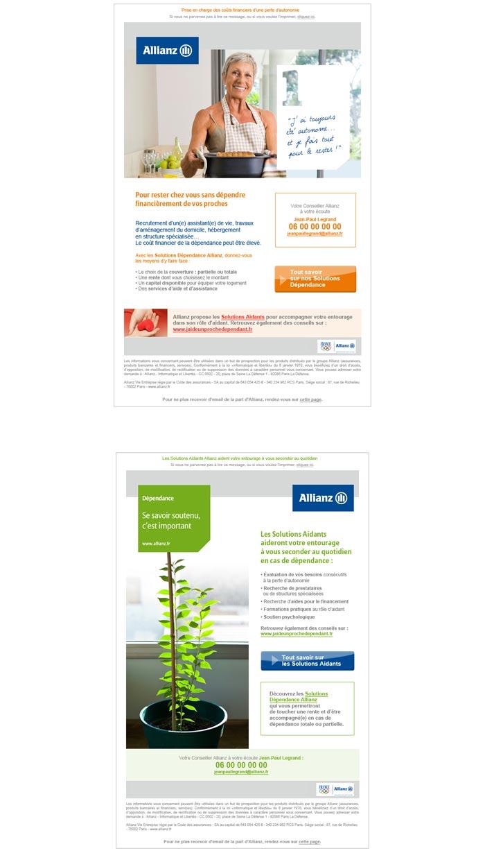 mailings web pour univers santé