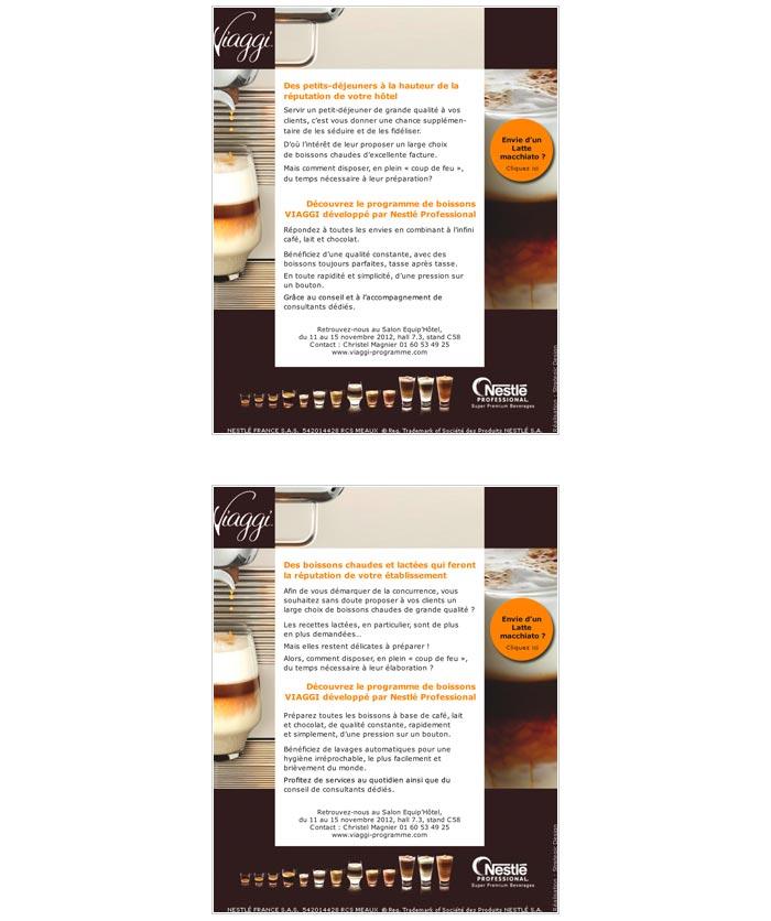 mailings destinés aux professionnels de l'hôtellerie et de la restauration