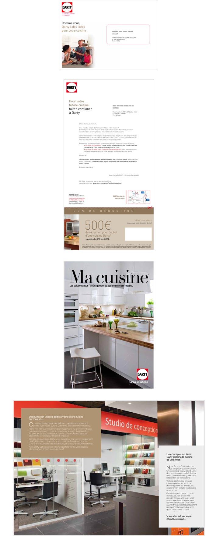 mailing papier avec offre commerciale pour grands magasins