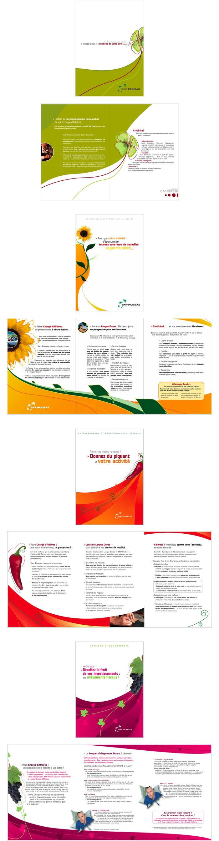 mailings proposant aux professions indépendantes des produits financiers