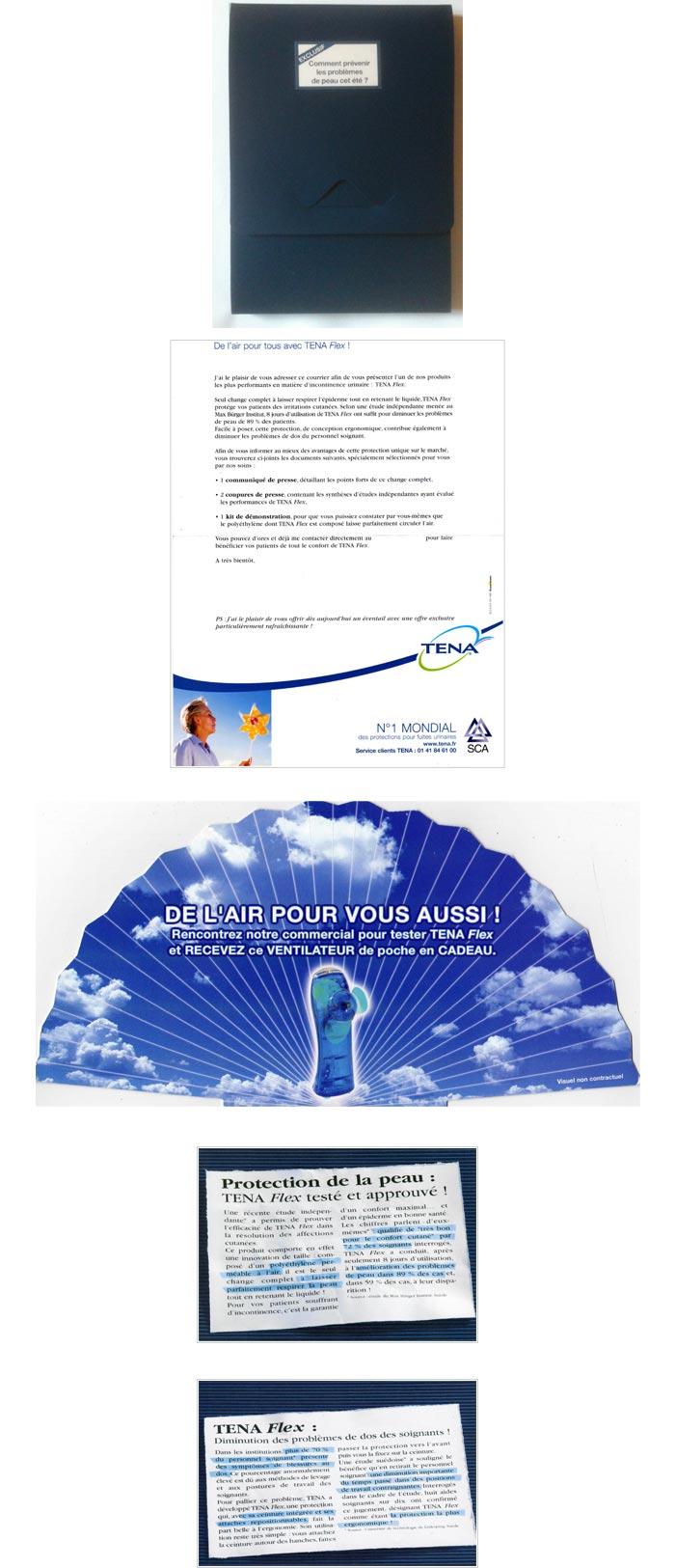 Mailing pour produits incontinence sénior