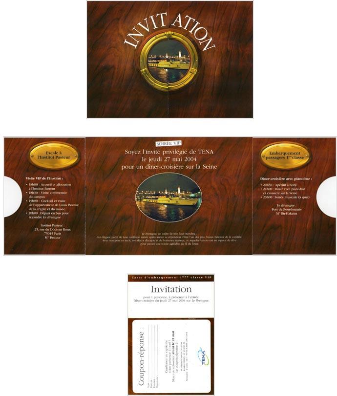 invitation print pour soirée événementielle