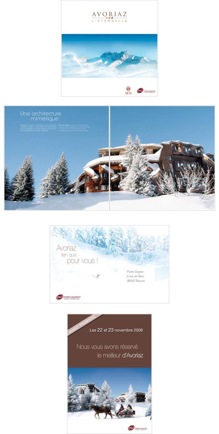 Plaquette et mailing papier pour immobilier de loisirs