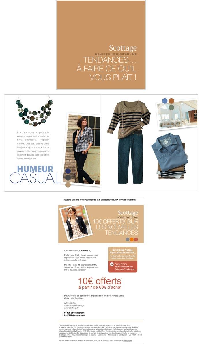 mailing, e-mailings et leaflet pour entreprise secteur mode