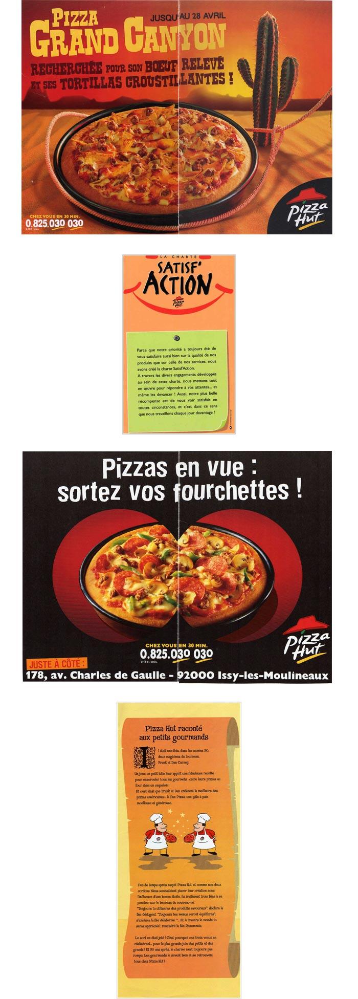 pub radio, télé et print pour chaîne de pizzerias