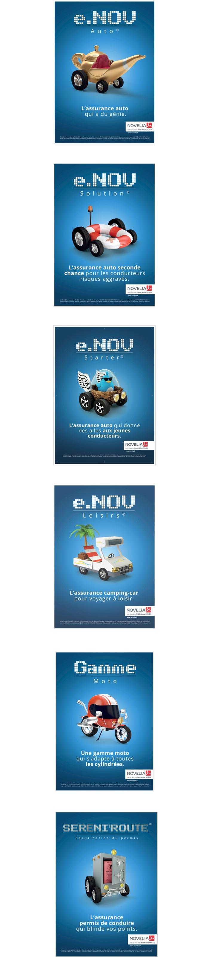 annonce presse pour une gamme de produits d'assurance Auto Moto