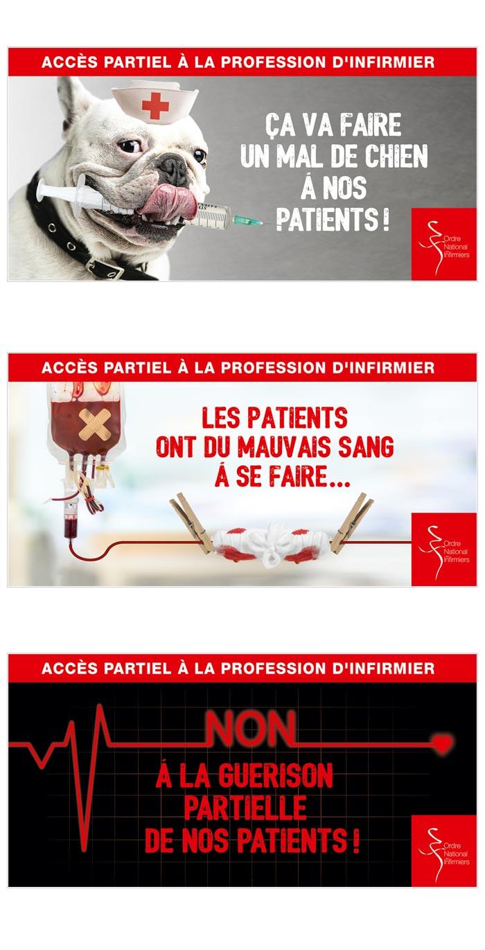 visuels web pour mobilisation infirmiers