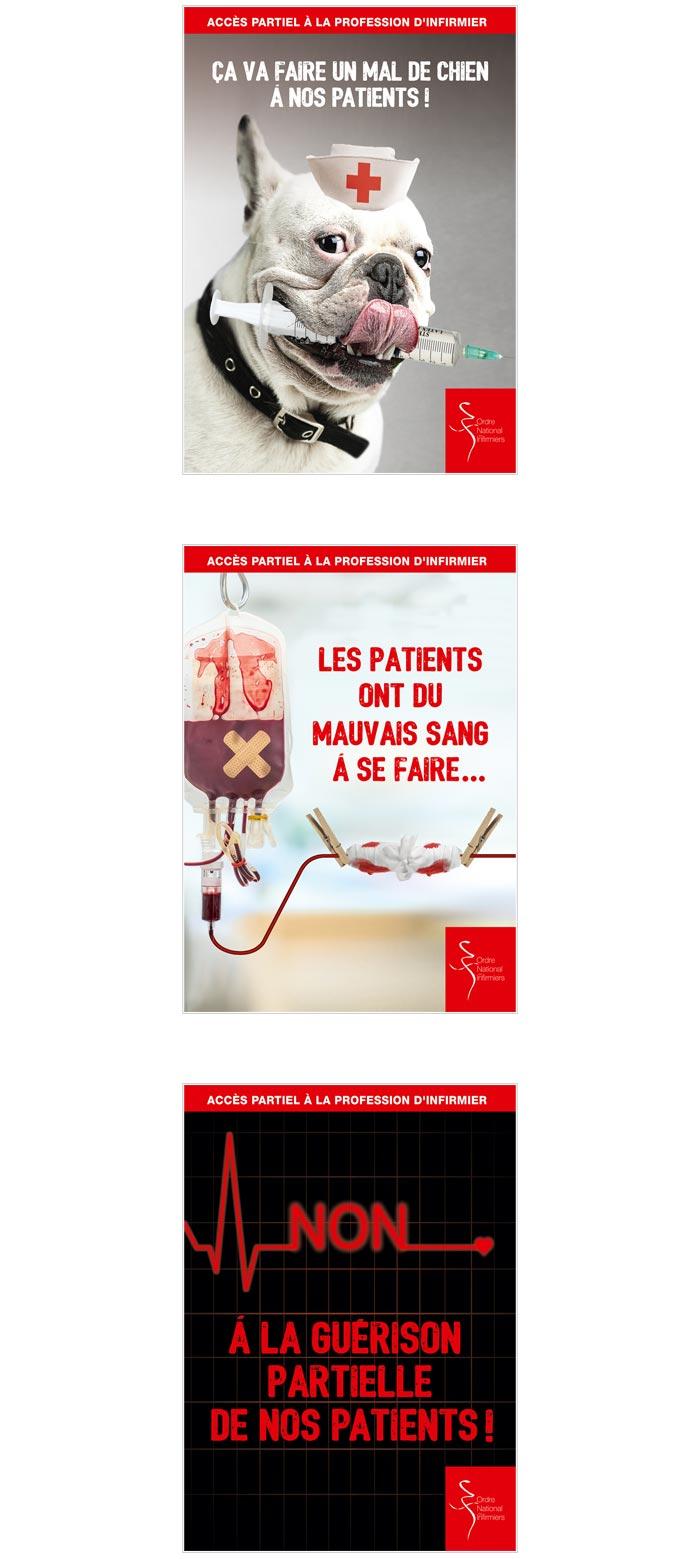 affiches print pour mobilisation infirmiers
