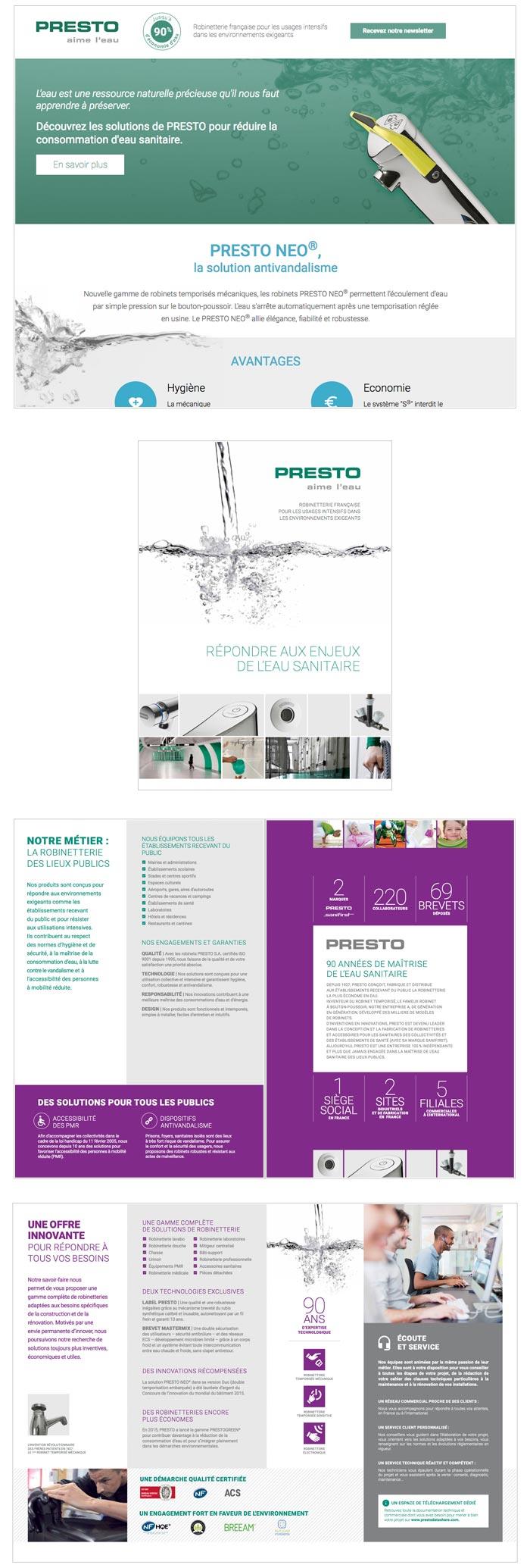 commnication web et print pour entreprise de robinets