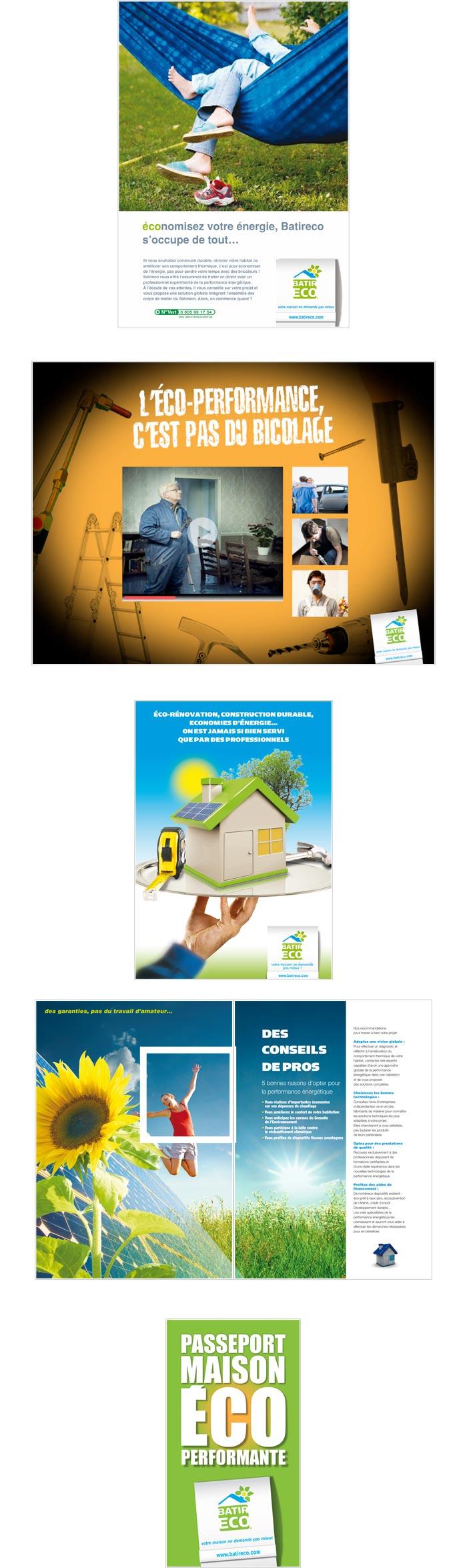 Annonces presse, plaquette commerciale et dispositif web pour particuliers