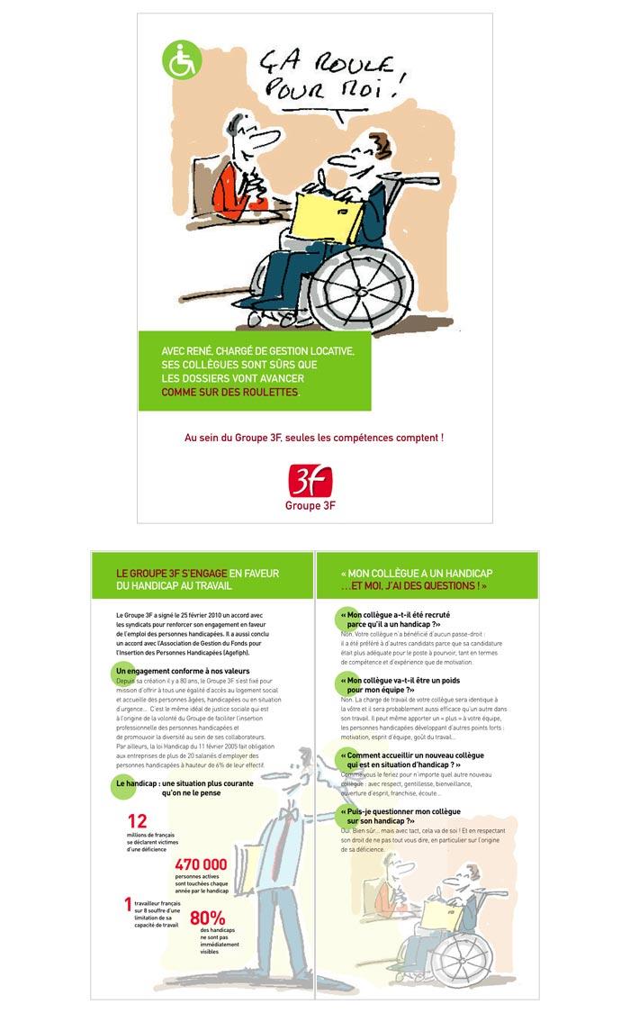 affichage, kakémono, leaflet et guide pratique pour communication interne