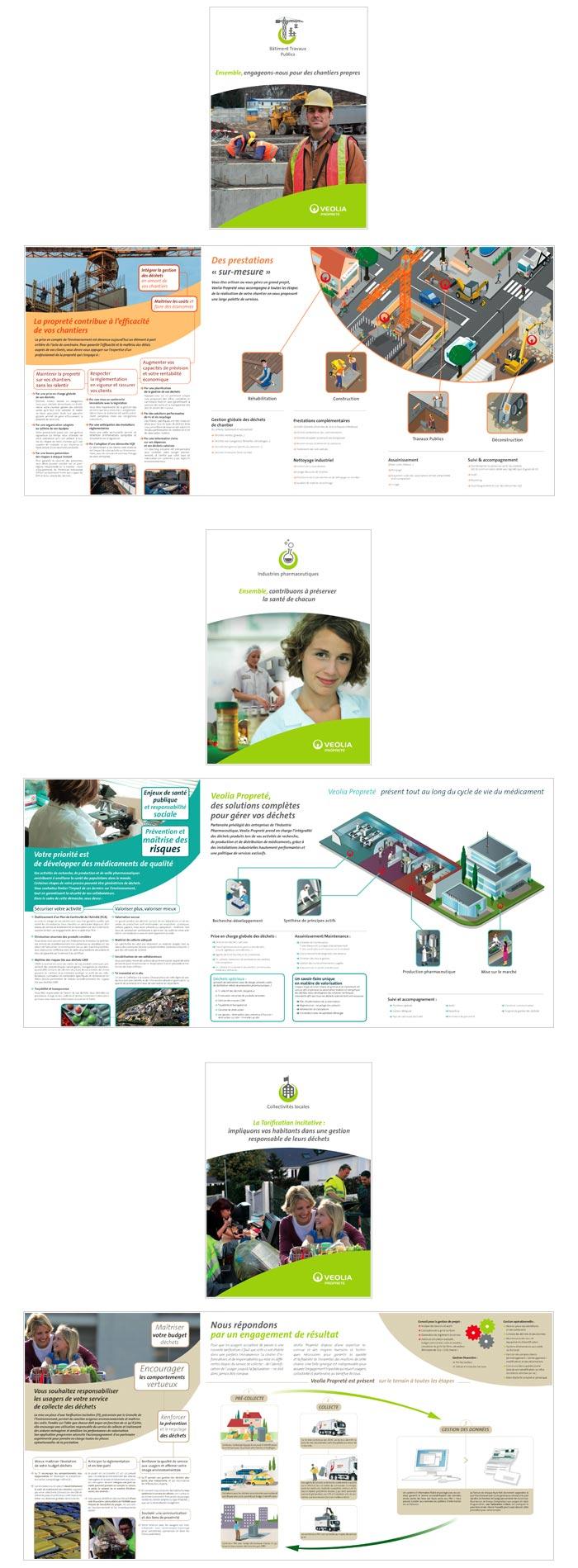 plaquettes présentant des solutions de gestion des déchets