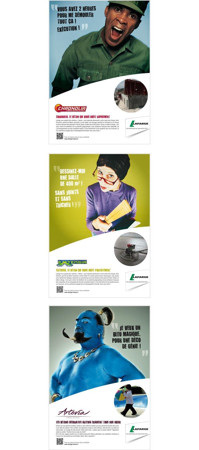 publicité presse professionnelle sur le béton