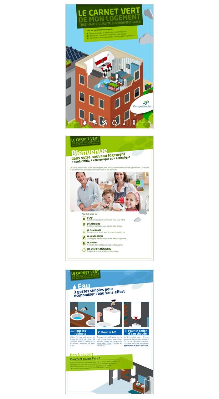 livret print pour communication locataires office HLM