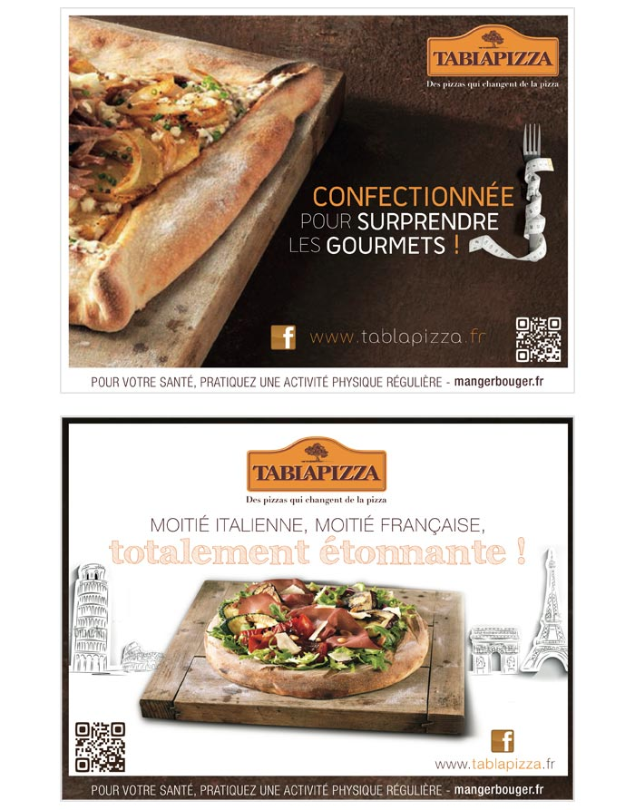 Affiches et supports print pour restaurants