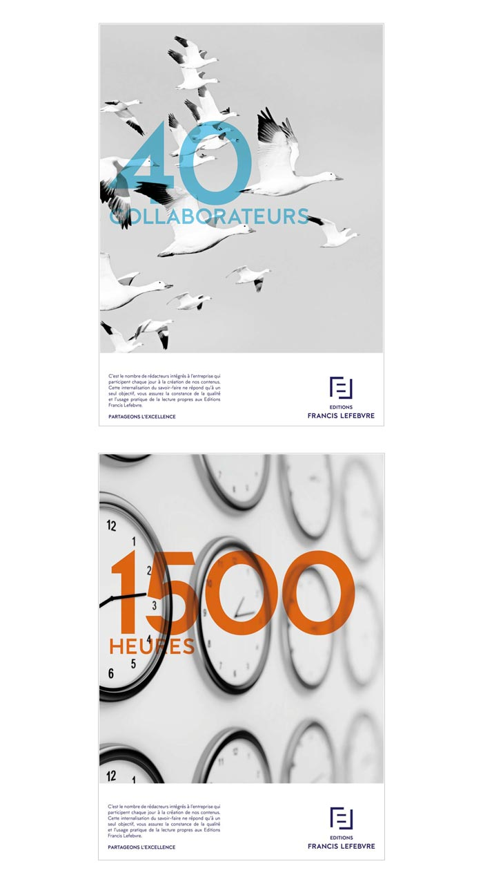 publicité print pour éditeur juridique