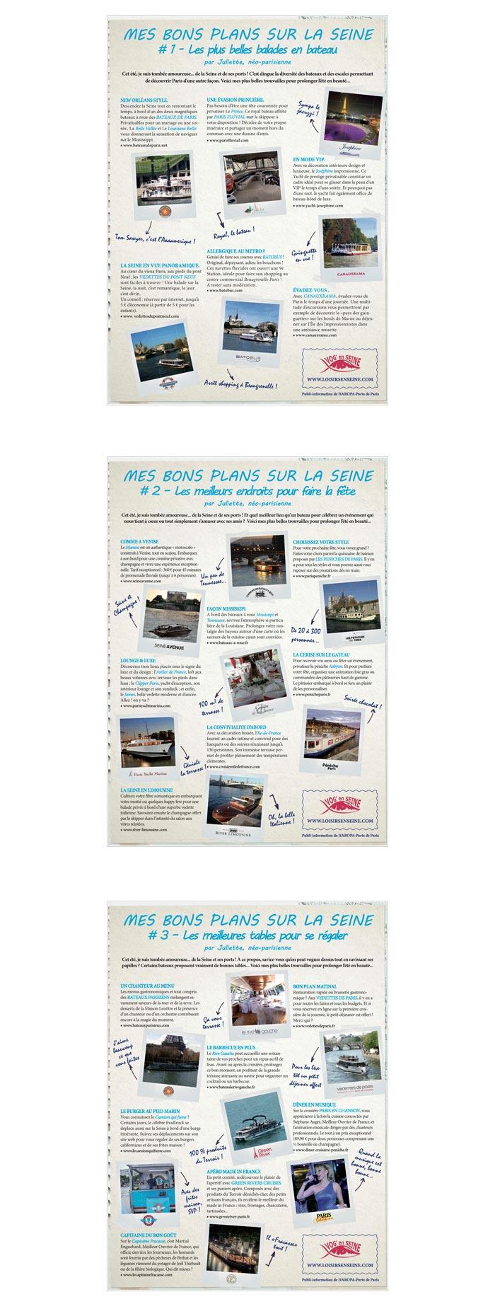 publi-rédaction pour promotion du tourisme fluvial
