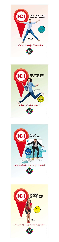 affiches pour services de création graphique