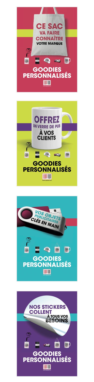 affiches pour goodies et stickers