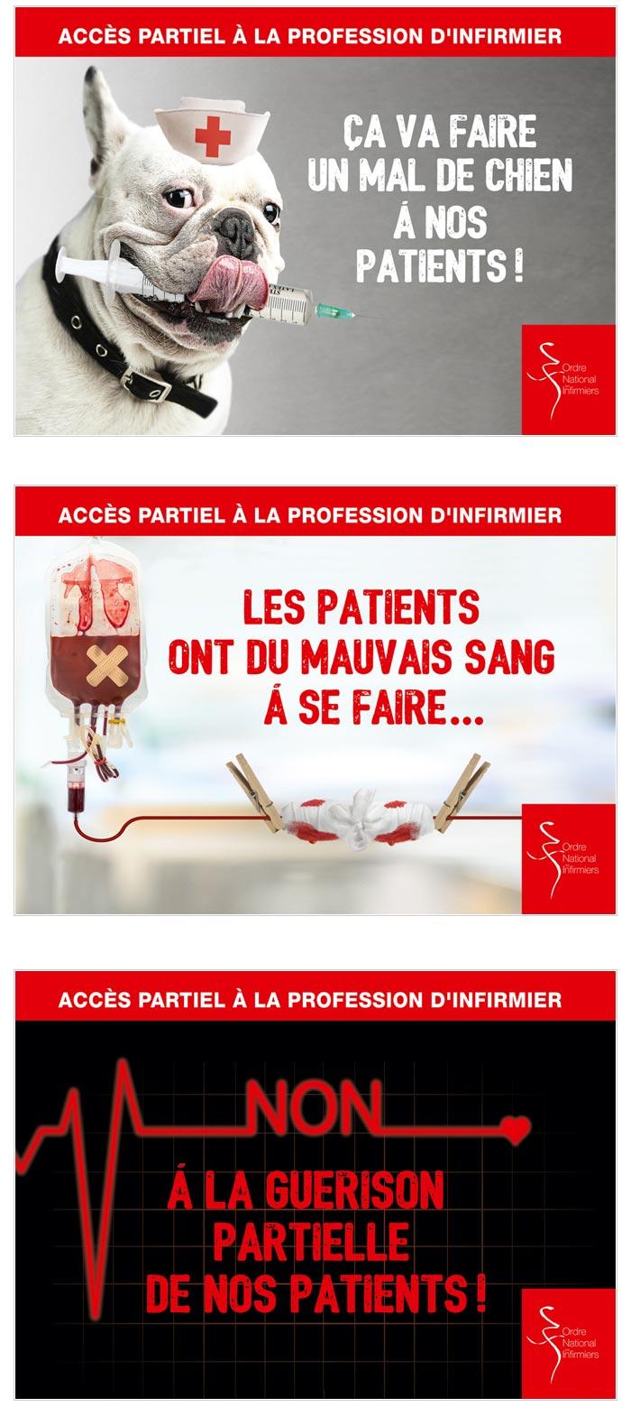 affiches mobilisation du corps médical