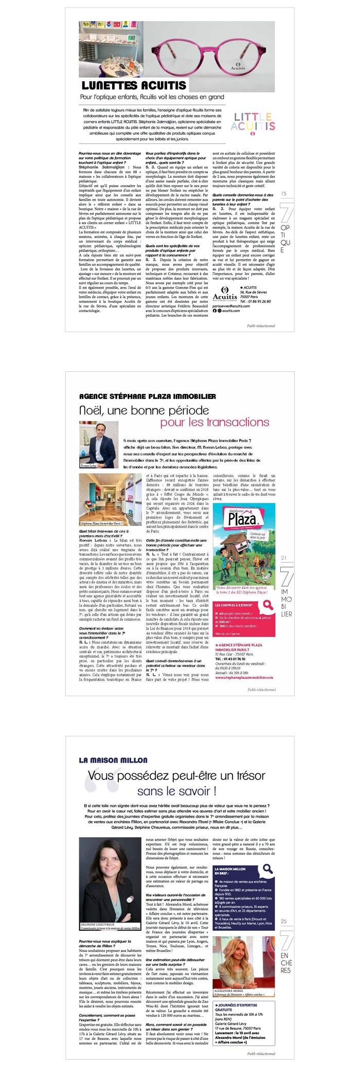 publi-rédaction pour un journal d'arrondissement
