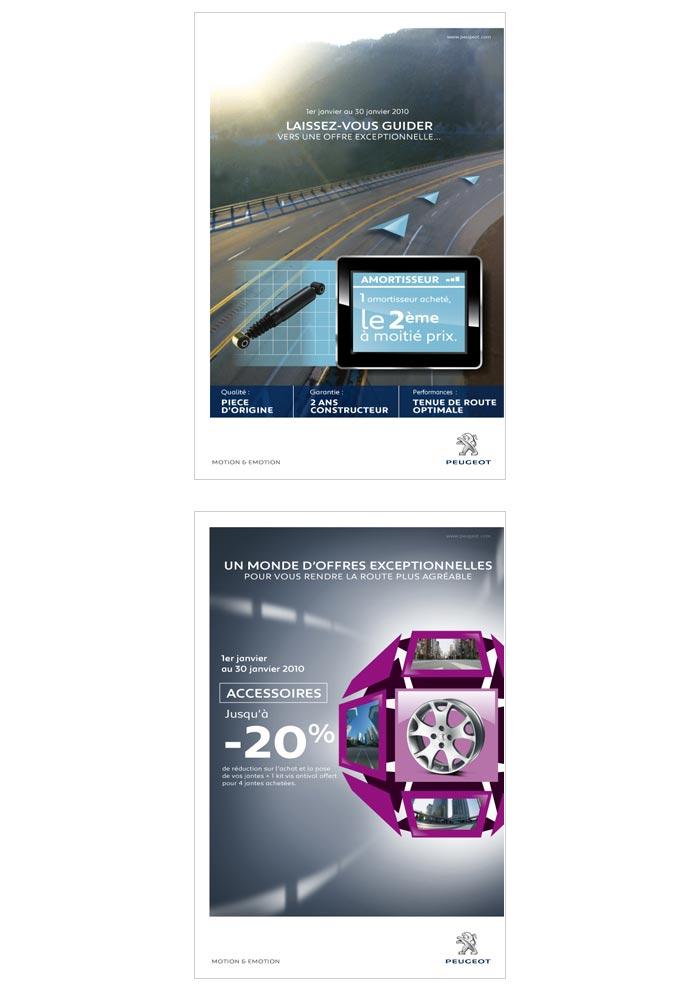 publicité print pour automobile