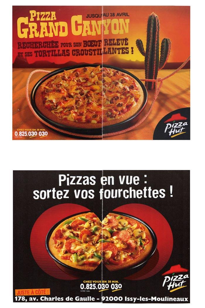 affiches en 4x3 pour restauration rapide
