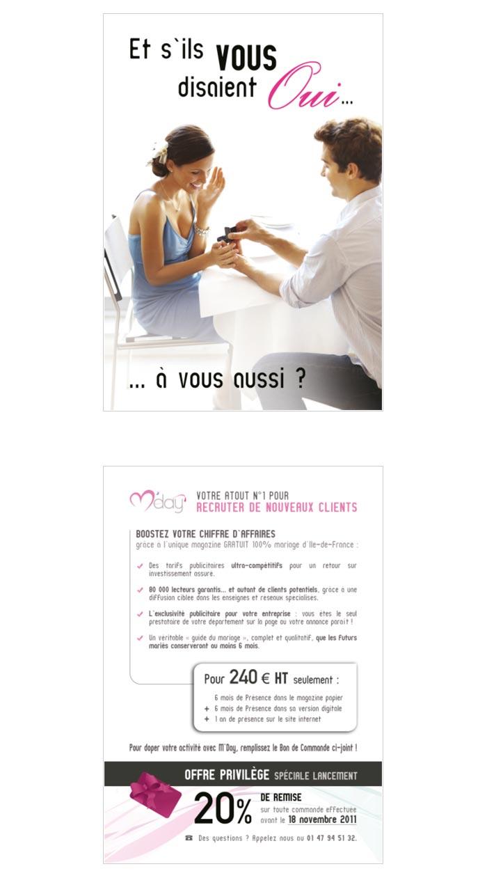 flyer BtoB pour prestataires des mariages