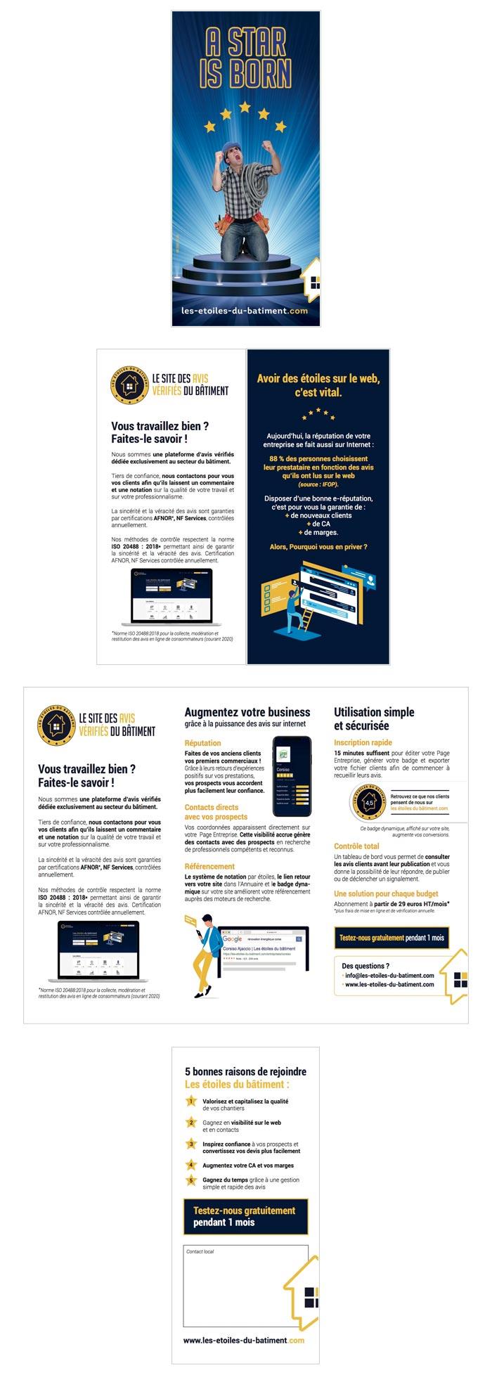leaflet sur site web d'avis certifiés sur le BTP