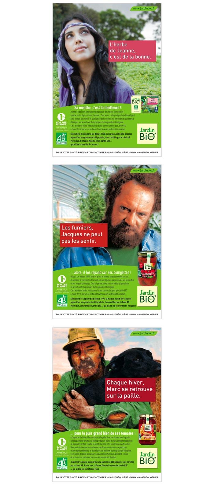 annonce presse publicité pour marque alimentation bio