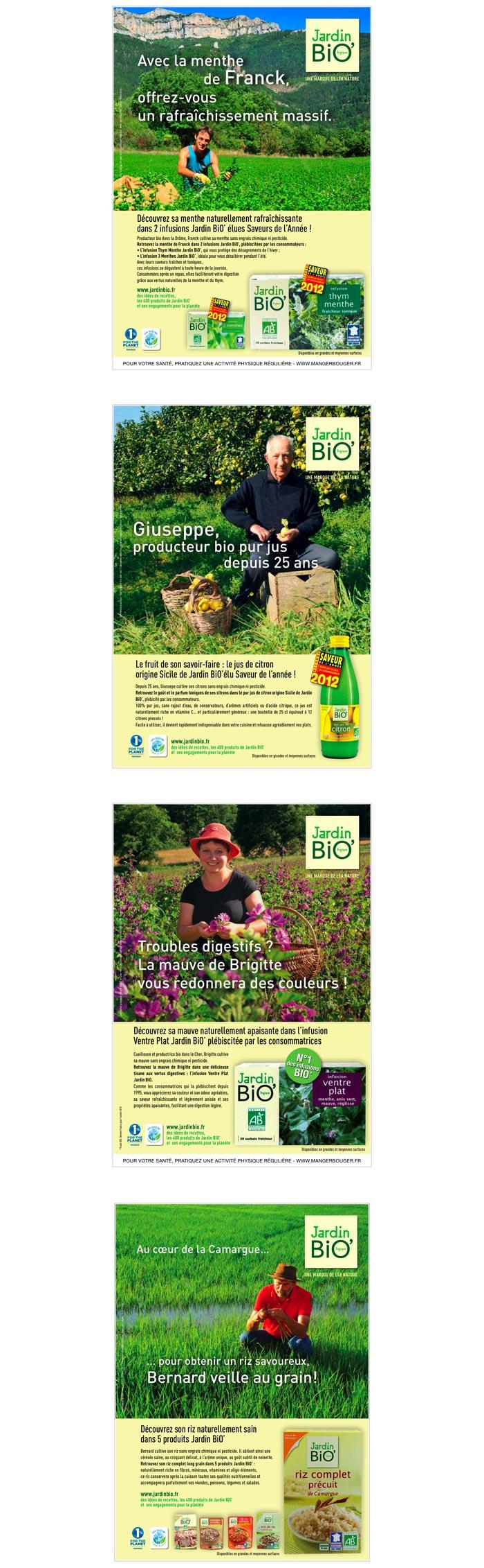 publicité print pour marque alimentation bio