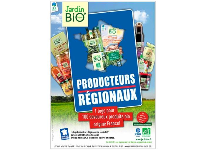 annonce presse publicité pour label alimentation bio