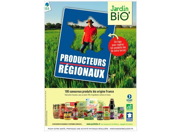 publicité print pour label alimentation bio
