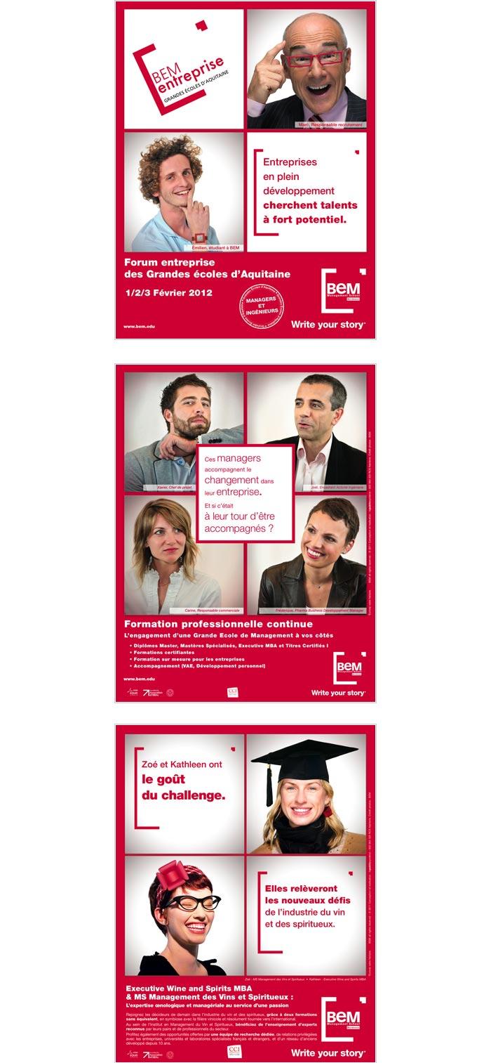 publicité print pour école de commerce internationale