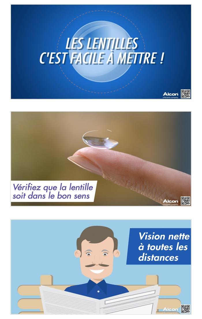 film promotionnel sur les lentilles
