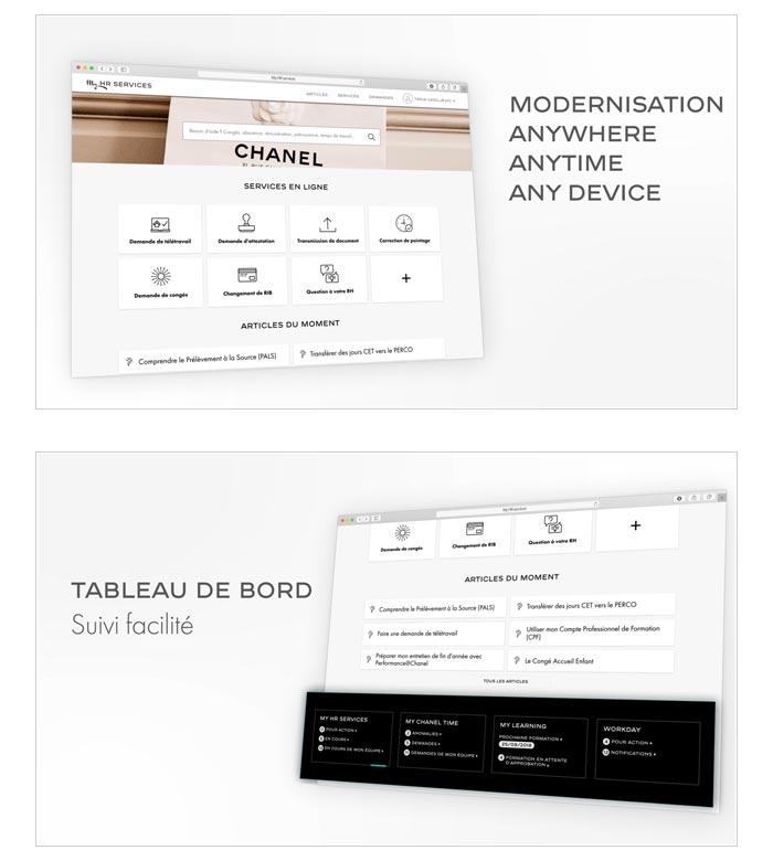 motion design présentation portail web