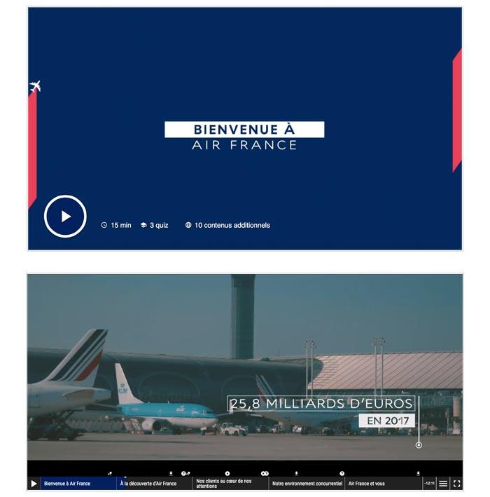 film interne intercatif univers transport aérien
