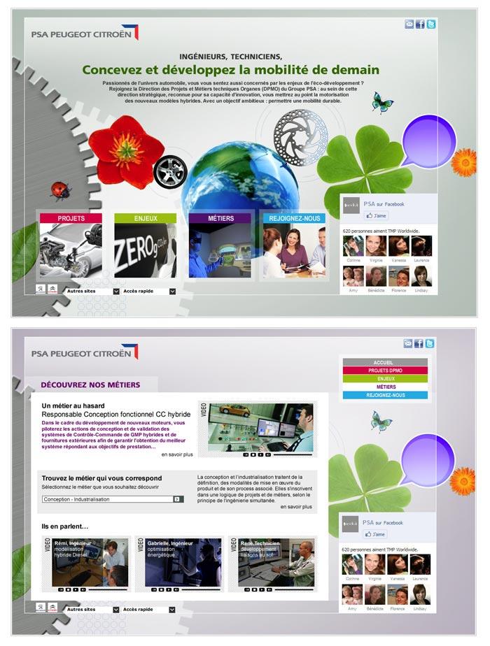 Campagne de recrutement web pour secteur automobile