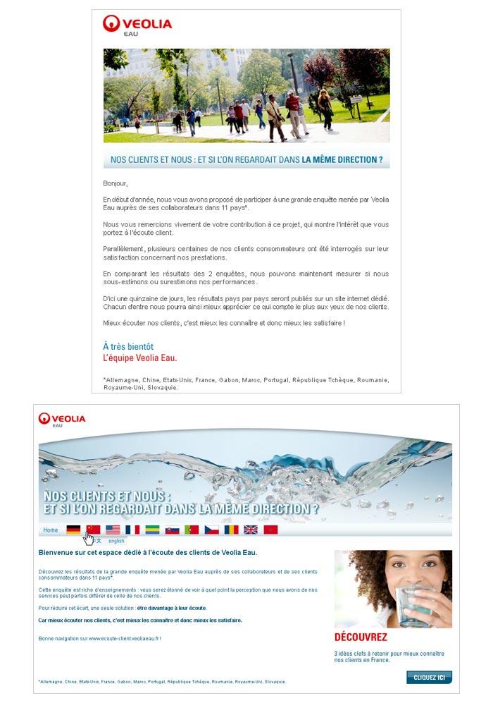 e-mails et site web temporaire pour entreprise industrielle