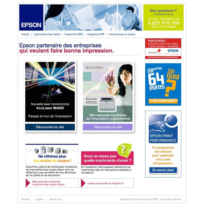 site web pour produits informatiques et solutions d'impression