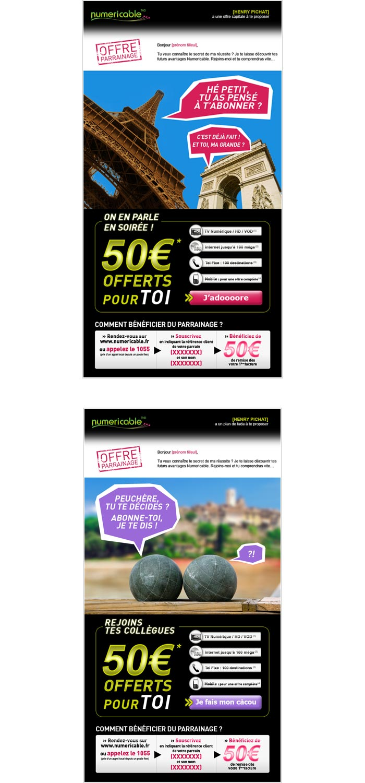 e-cards de parrainage pour abonnements Internet Très Haut Débit