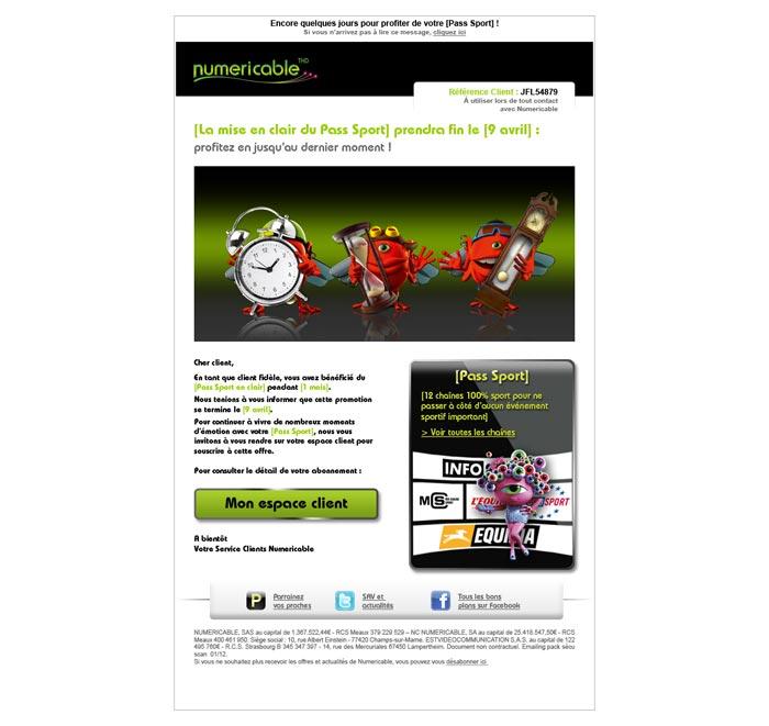Email offre promotionnelle abonnement Internet Très Haut Débit