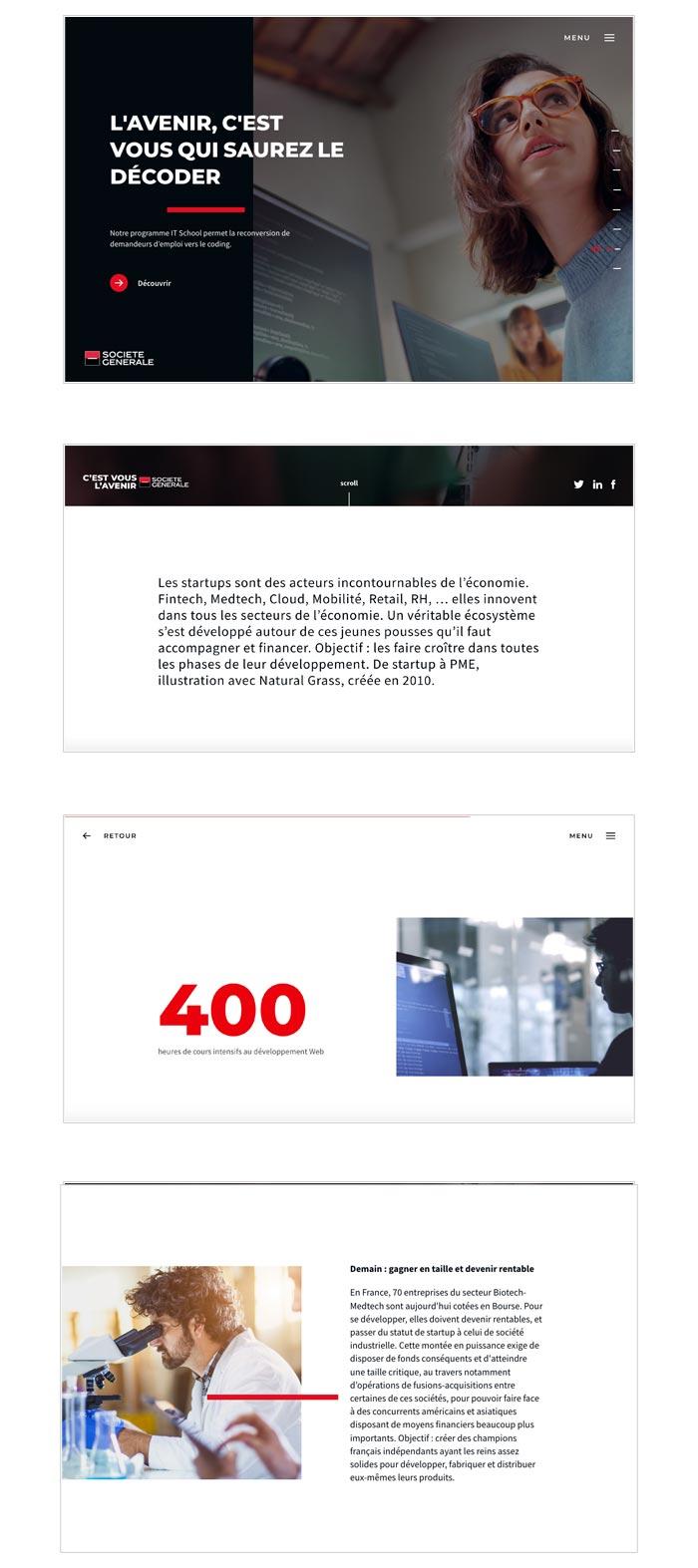 site web éphémère pour lancement d'une nouvelle signature