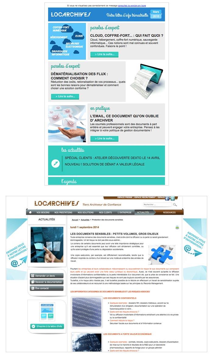 newsletter et contenu web pour entreprise de services informatiques