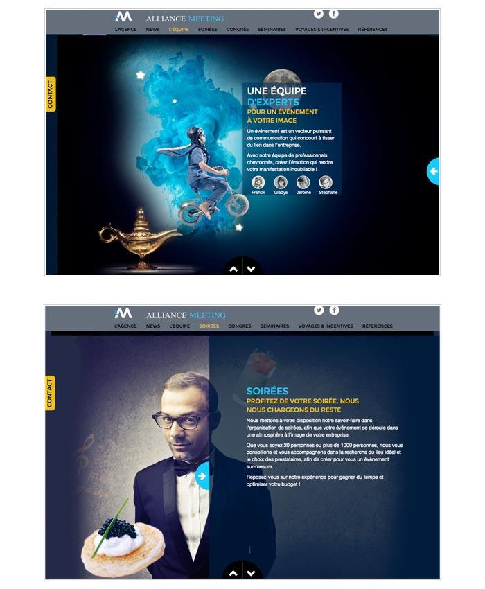 site web vitrine pour agence d'événementiel