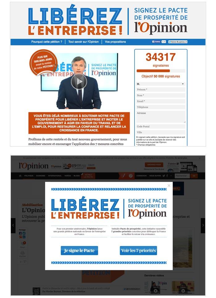 campagne digitale de mobilisation avec pétition