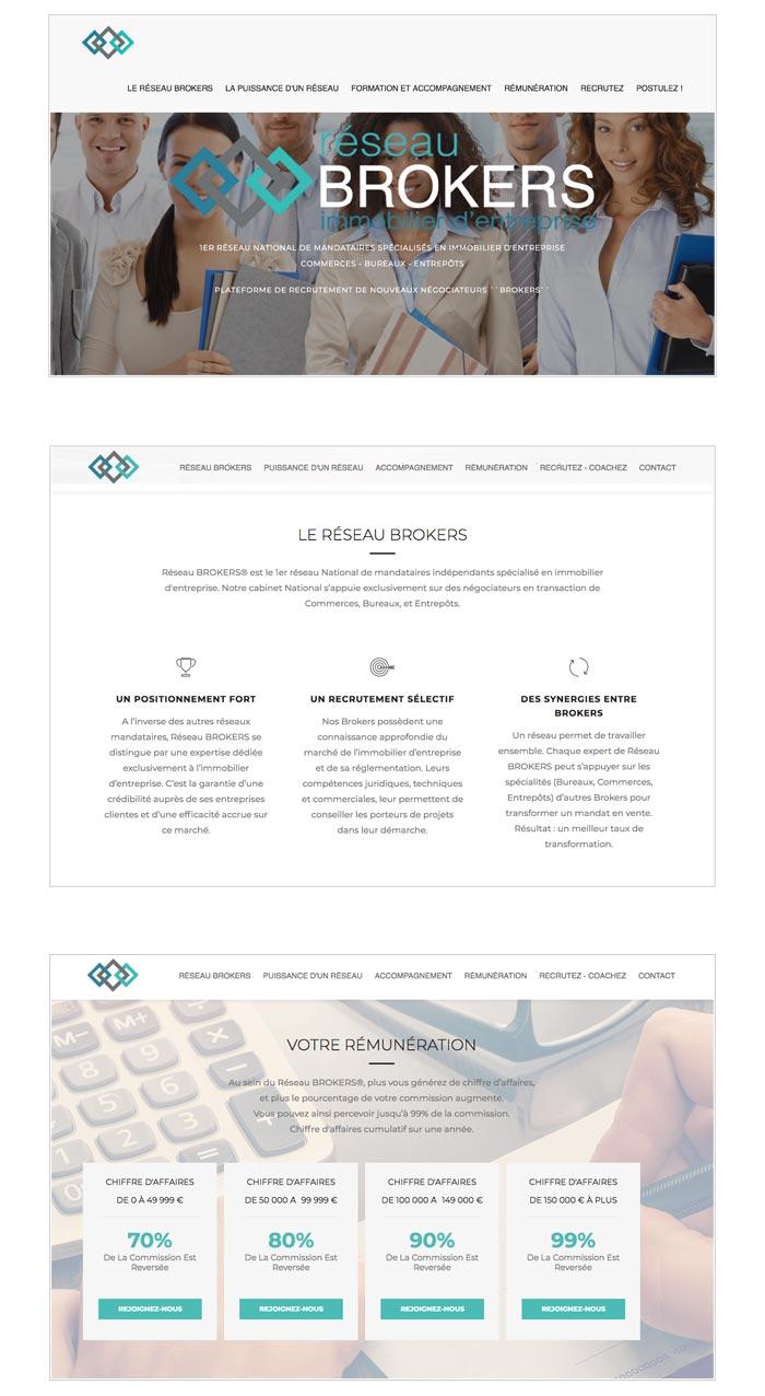site web recrutement pour réseau immobilier