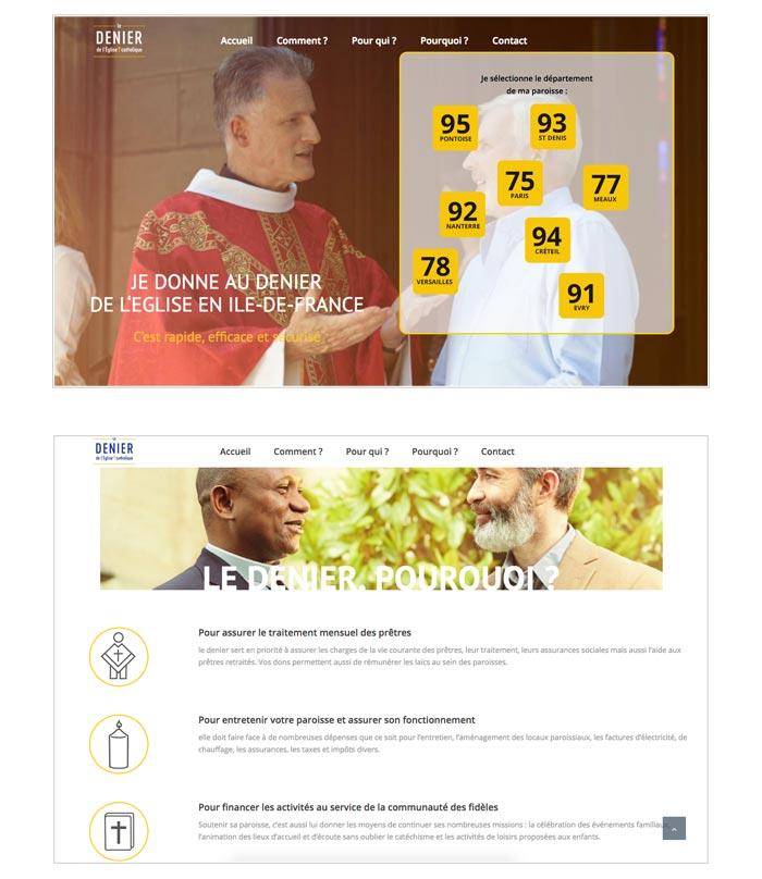 site web fundraising pour église