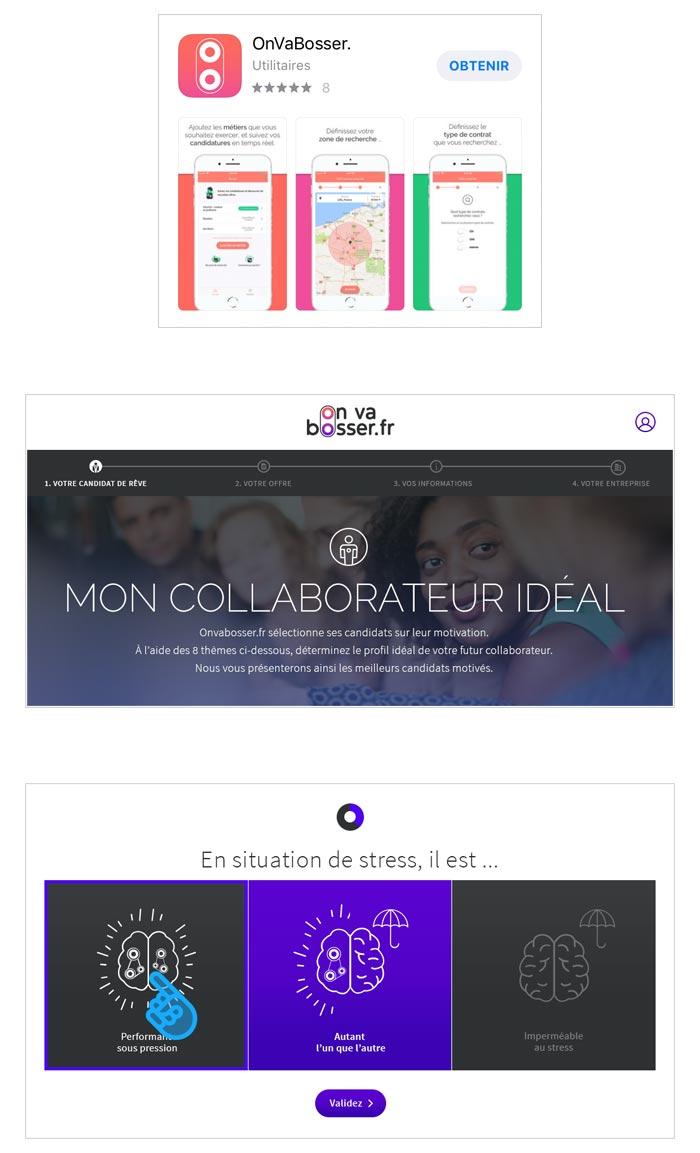 application mobile et site desktop